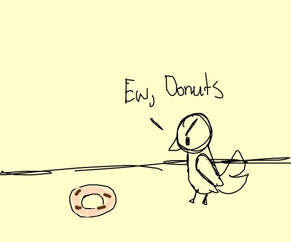 bird hate donut