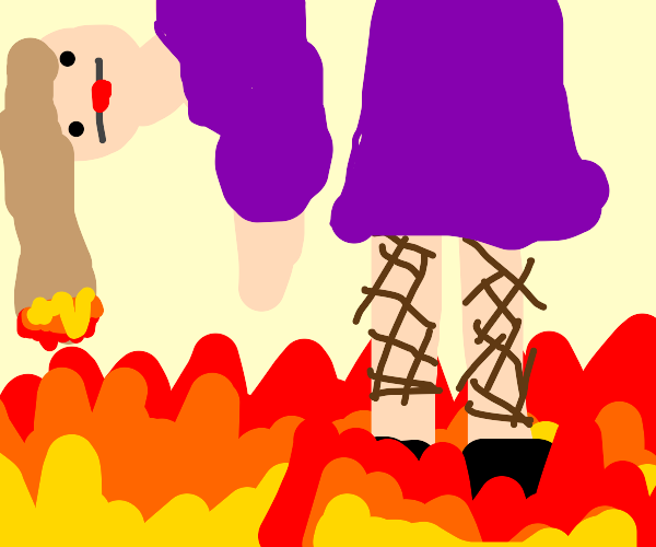 Giant in a Fire