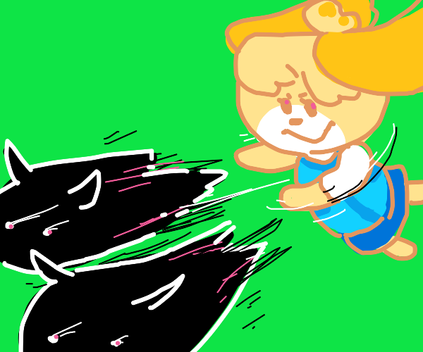 Isabelle yeets some demons
