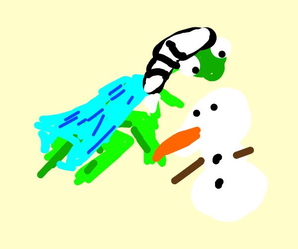 Frozen Grasshopper