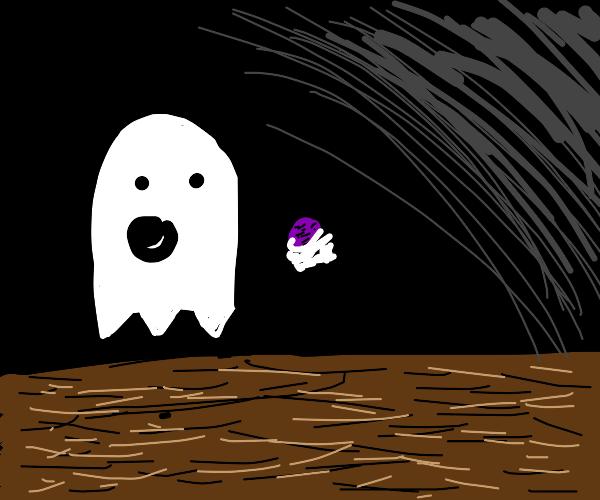 Ghoul eating Raisins