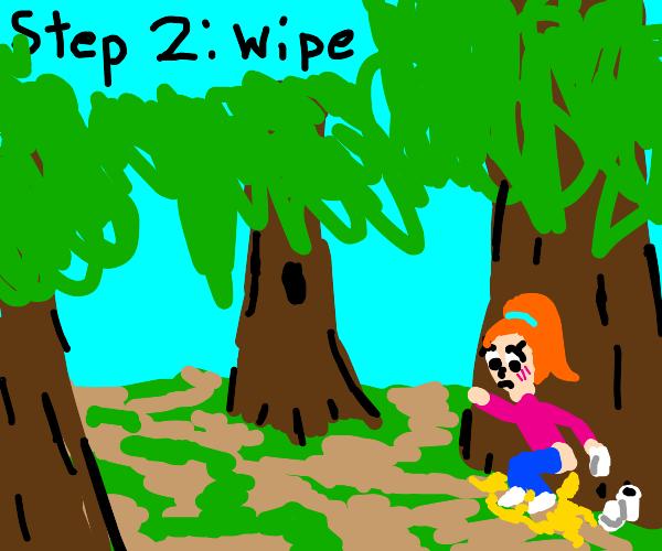 step 1: pee on a tree