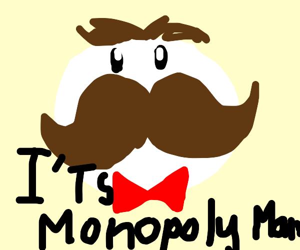 Monopoly man is actually pringles man