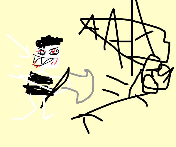 Very white Michael Jackson chasing boy