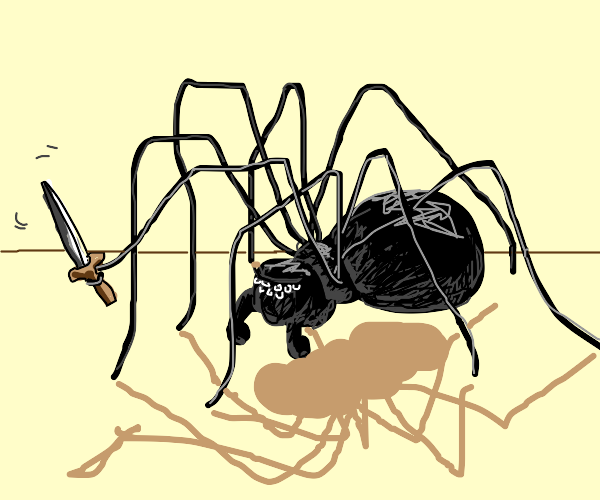 evil spider dude is ready to fight
