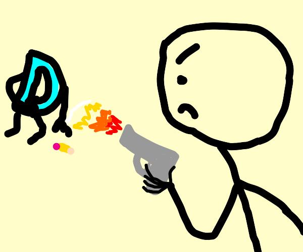 guy shoots drawception