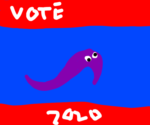Worm On A String for US President, 2020