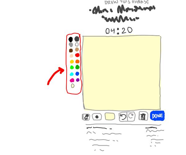 default palette of drawception colors