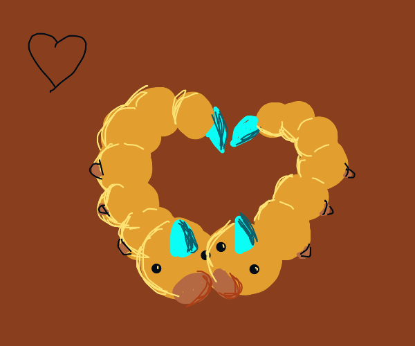 Weedle in the shape of a heart