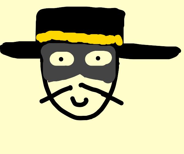 zorro's hat and mask
