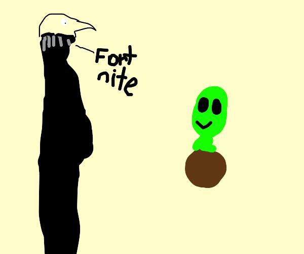Gru finds an alien in coconut drink