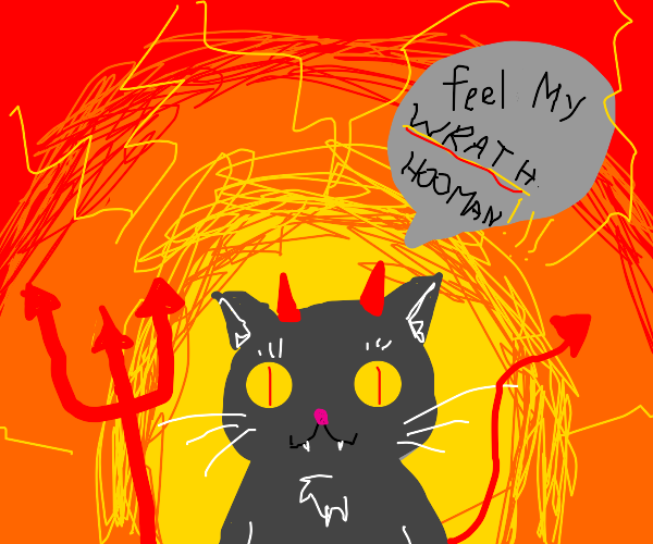 Angry Demon Cat