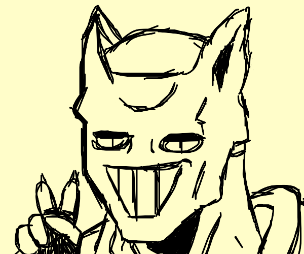 Killer Queen is giving a peace symbol