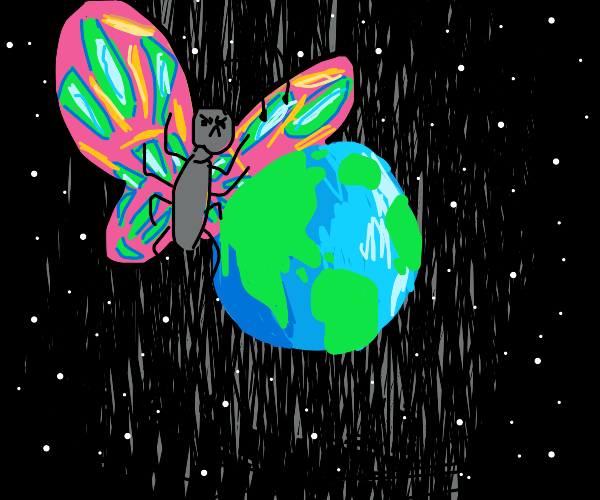 Butterfly dominates earth