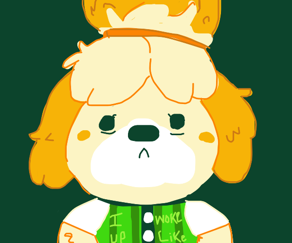 """Isabelle with a """"I woke up like this"""" T-shirt"""