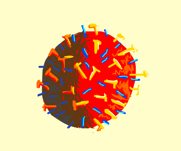 A very well shaded corona virus