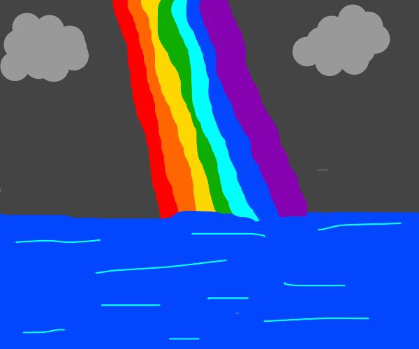 dapper pimp rainbow above the sea