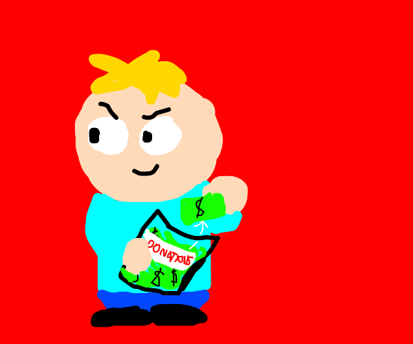 SP Butters stealing the donations
