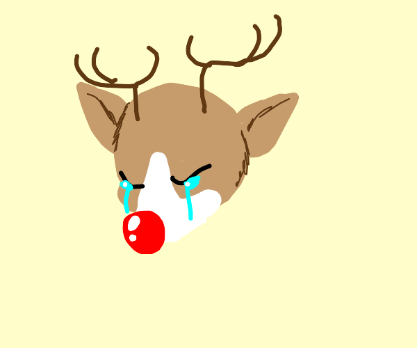 Rudolph is crying