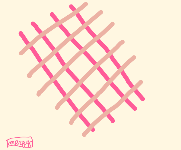 several crossing pink stripes