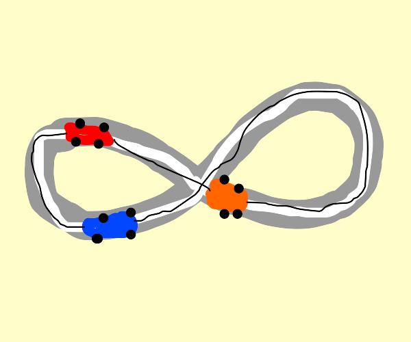 infinity symbol race track