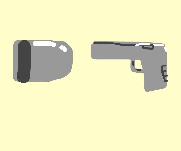big bullet beats gun