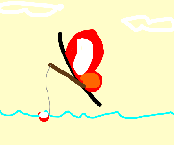 A butterfly fishing