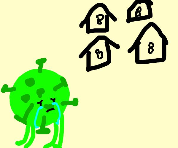 coronavirus crying for being alone