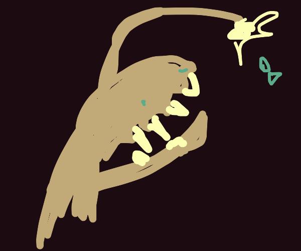 anglerfish with light (google it)