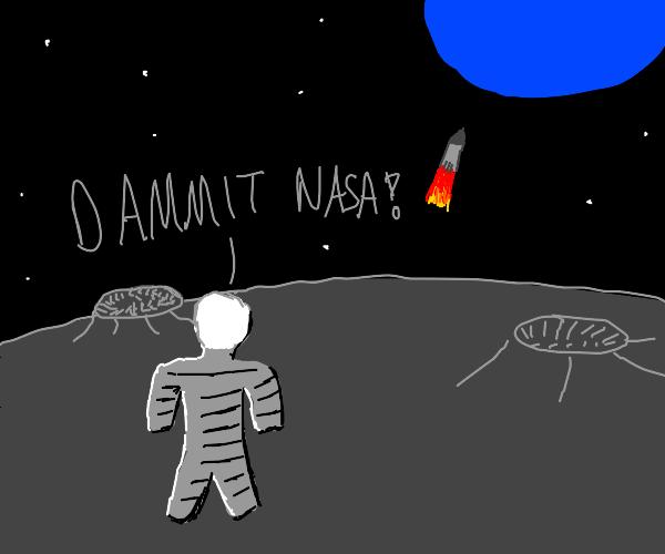 Nasa abandoned a man