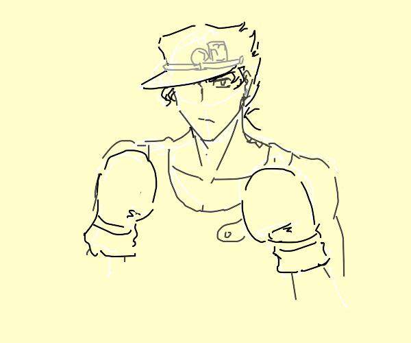 Jotaro is a boxer