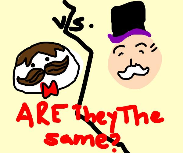 Pringles and Monopoly man