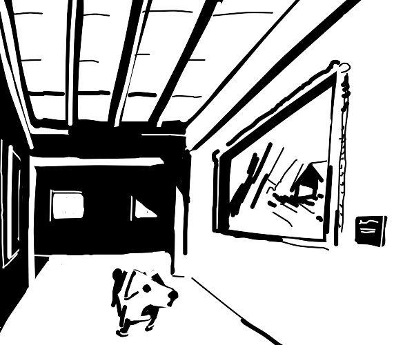 Dog in a Museum