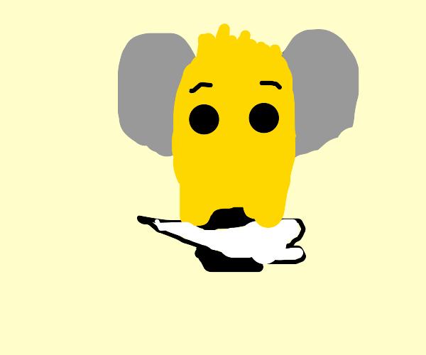 Hyena with a bone