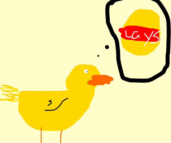 duck wants lays chips
