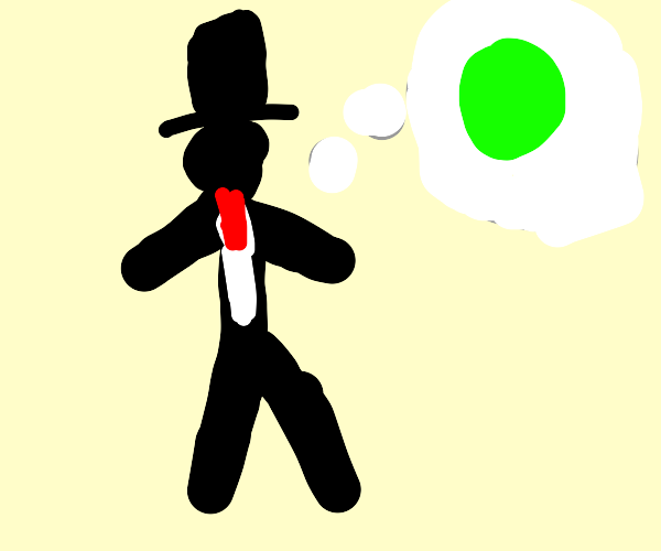 Man wearing suit thinking about green circle