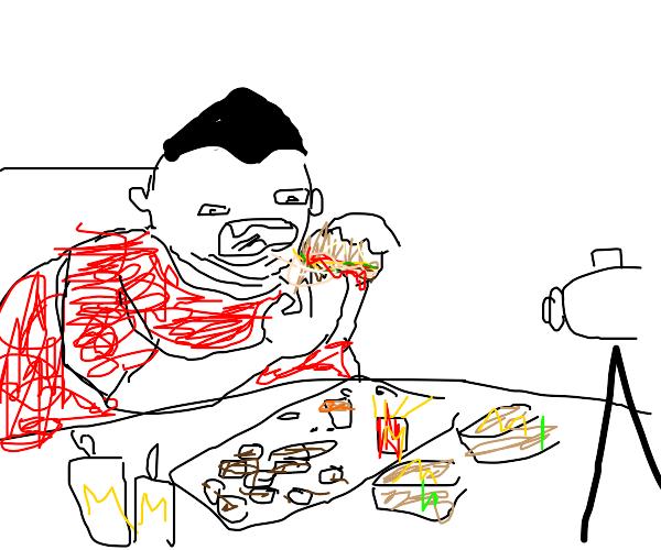 Fat man craves mcdonalds