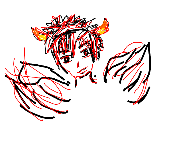 Demon with wings