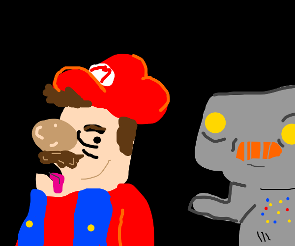 retarded mario vs. also retarded robot