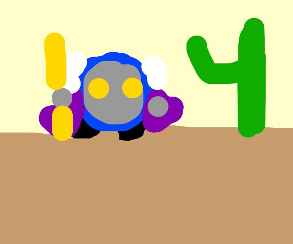 Meta Knight in the desert