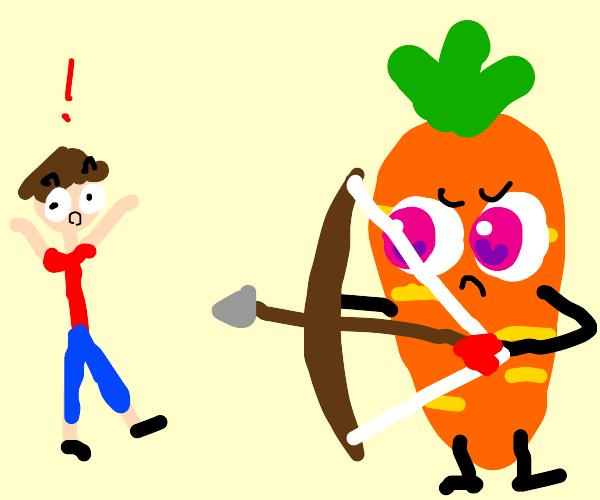 carrot kills man with bow