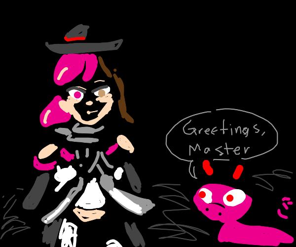 Pig devil greets his master, Neo