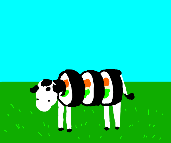 Sushi, but it's a cow