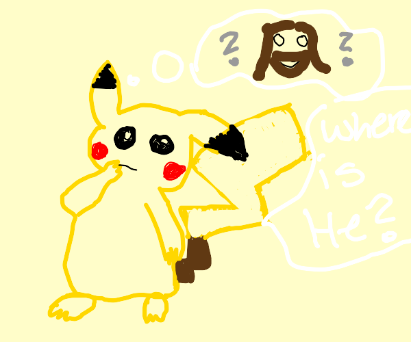 Pickachu asks where god is
