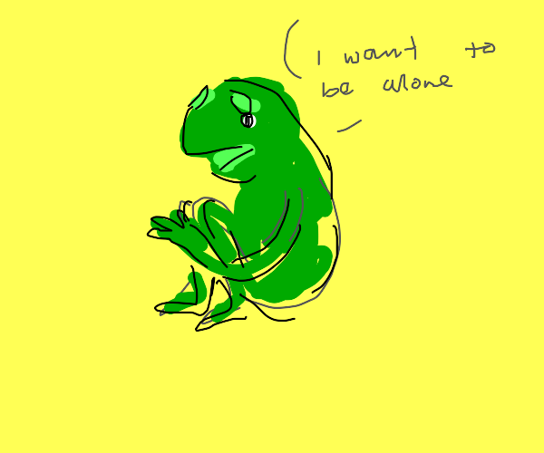 Kermit likes solitude