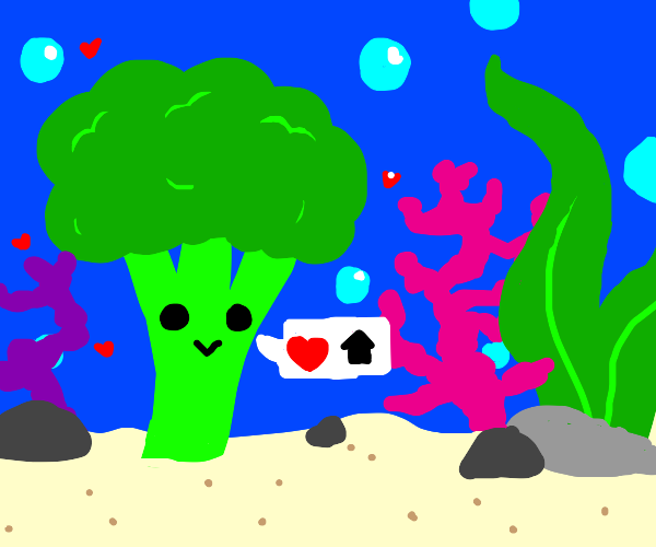 Broccoli lives in the ocean