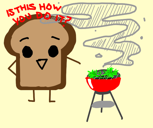 Piece of Bread Screws Up Smoking Weed