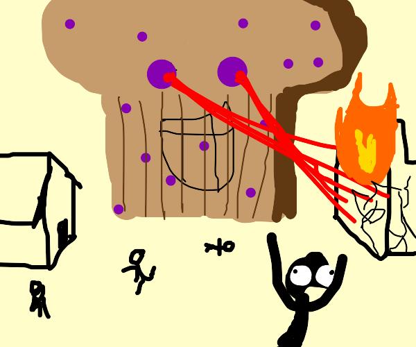 blueberry muffin terrorizing citizens