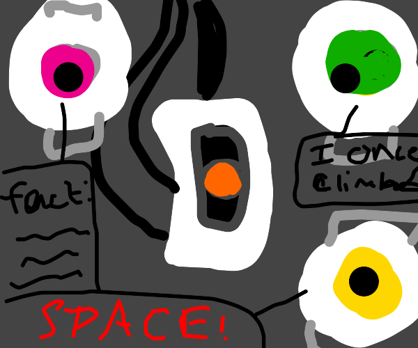 GlaDos with Space, Fact and Adventure Spheres