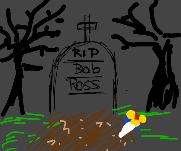 bob ross gravestone :( rip